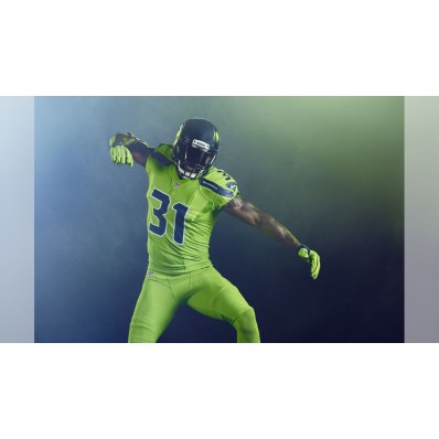 seahawks action green jersey